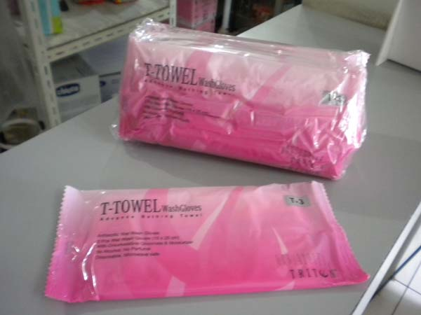 t-towel wash gloves