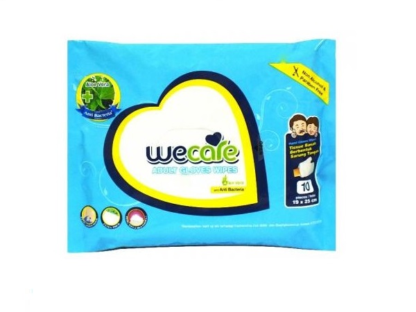 we care adult gloves wipes
