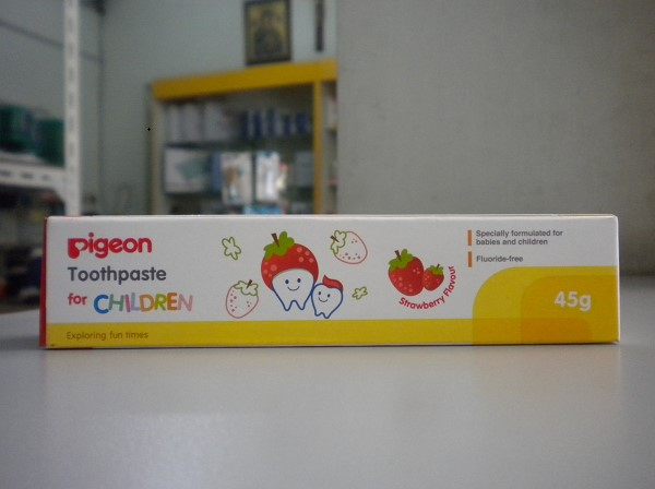 pigeon toothpaste strawberry anak