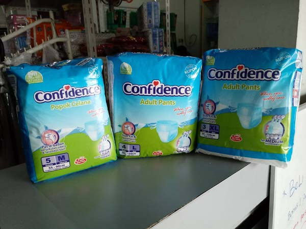 confidence pampers pants