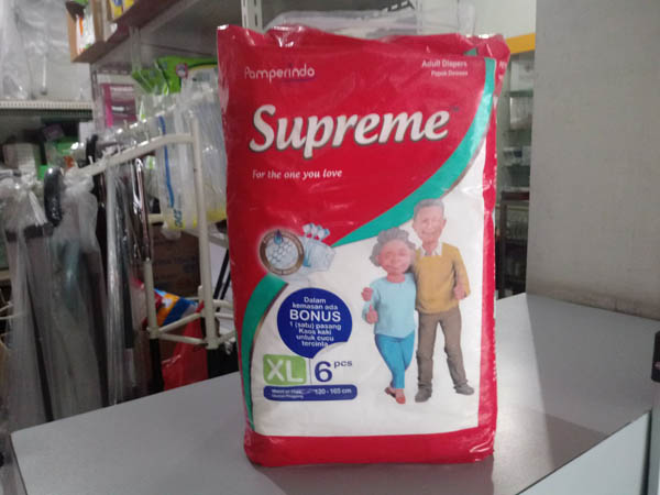 pampers supreme xl6