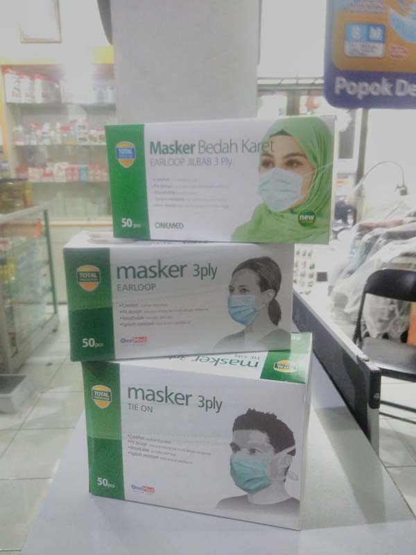 Jenis-jenis masker disposable di Alkes Marinno