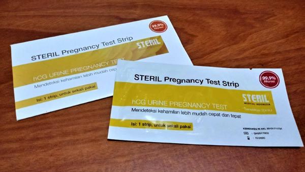 steril pregnancy test strip