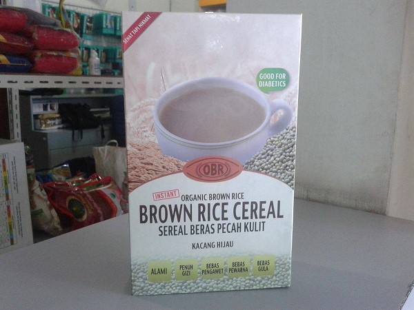 brown rice cereal kacang hijau