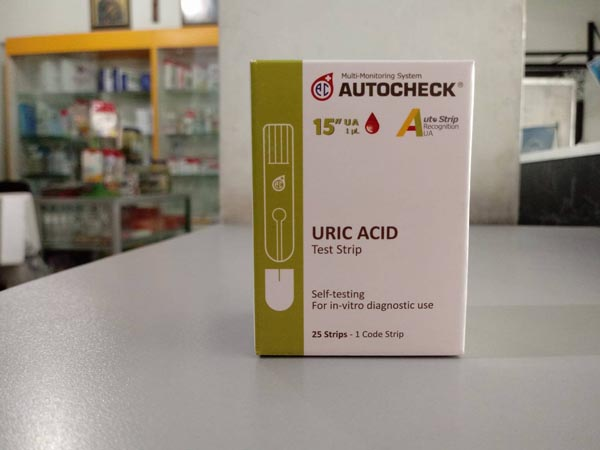 autocheck strip uric acid